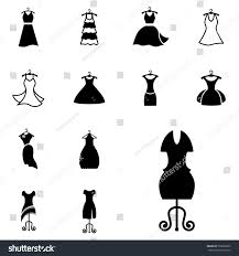 party silhouette party fashion dress icon silhouette clothes stock vector 570832009