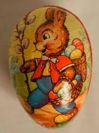 german paper mache easter eggs via spiga carita open toe leather slides sandal rabbit candy
