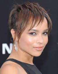short razor hairstyles zoe kravitz short razor hairstyles for straight hair popular