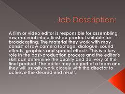 editors jobvideo editor job description screenshot get movie