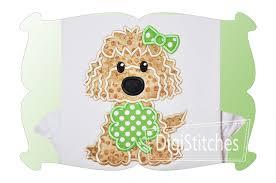 saint patricks day dog applique digistitches machine