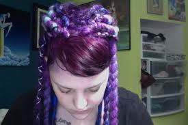 installing extension dreads in short hair my first dread install purple blue goodness hair extensions forum