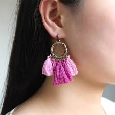 creative earrings bohemian fashion fan oorbellen exaggerated big ear ring 3 colors