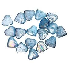 Decorative Glass Stones For Vase 15 X Blue Heart Shape Decorative Glass Pebble Stones Beads Vase