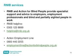 Blind Support Services Riwc Para A080 Blind People And Employment