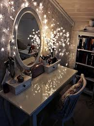 vanity table with lighted mirror diy modern desks decoration