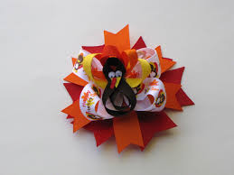 how to make a turkey ribbon sculpture for thanksgiving using 3 8