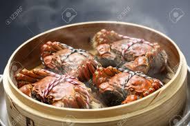 steamer cuisine steaming shanghai crabs in bamboo steamer cuisine