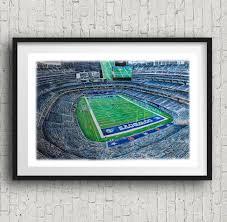 dallas cowboys football colored pencil art print art home