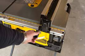 table saw with dado capacity dewalt dwe7490x table saw review tool box buzz tool box buzz