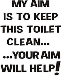 keep the bathroom clean toilet my aim is to keep this toilet clean your aim will help