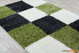 shaggy long pile high pile carpet rug paris design black green 4