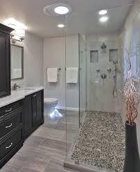 bathroom shower floor ideas interior design for bathroom river rock shower floor remodel of