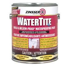 zinsser watertite mould u0026 mildew proof waterproofing paint