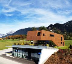 physical therapist s practice merged with modern home in austria