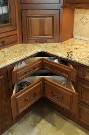 brown oak corner with unique drawer of brilliant kitchen f