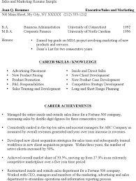 resume for sales and marketing download sales marketing resume sample for free tidyform