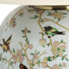 Bird And Branch Table Lamp by Interiors Blue Birds Ceramic Table Lamp