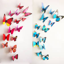 3d wall art decor butterflies home decor ideas free shipping 12pcs pvc 3d butterfly wall decor cute butterflies wall stickers art decals home decoration