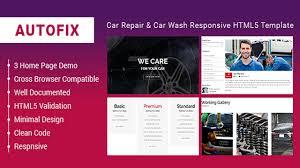 autofix car repair u0026 car wash responsive html5 template