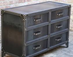 Metal Bedroom Dresser Metal Dresser Etsy