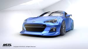 subaru brz spoiler ml24 automotive design prototyping and body kits