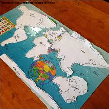 World Map Of Continents And Oceans To Label by Suzie U0027s Home Education Ideas 8 Hands On Ideas For Learning About