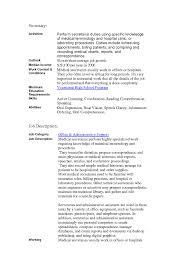 Paralegal Job Description Resume by Secretary Job Description Resume Archives Resume Template Online