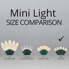 christmas lights sizes comparison amazon com led warm white christmas mini light set 50 5mm lights