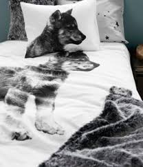 Wolf Bedding Set 100 Cotton King Bed Snow Wolf Quilt Doona Duvet Cover