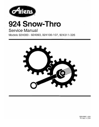 ariens sno thro 924326 st1336le specifications