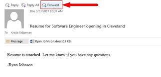 Body Of Email For Sending Resume Emailing Resumes Into Big Biller