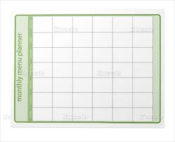 notepad template for word monthly menu template u2013 12 free psd eps format download free