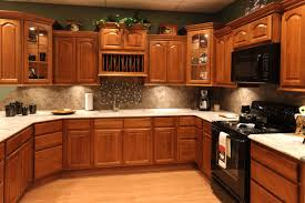 Images For Kitchen Cabinets Oak Kitchen Cabinets With Granite Countertops And Black Appliances