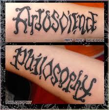 best ambigram tattoo on arm tattoomagz