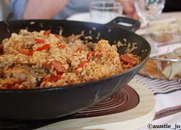 cuisine de louisiane jambalaya au poulet et crevettes