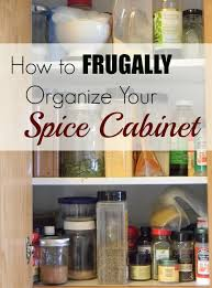 how to frugally organize your spice cabinet