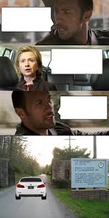 The Rock In Car Meme - rock and hillary blank template imgflip