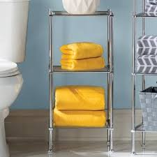 Free Standing Shelf Designs by Free Standing Bathroom Shelving You U0027ll Love Wayfair