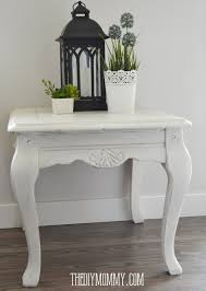 Shabby Chic Side Table Make Diy Or Coloured Wax My Upcycled Side Table The Diy