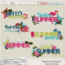 summer dreamin u0027 word art embellishment ideas for crafting