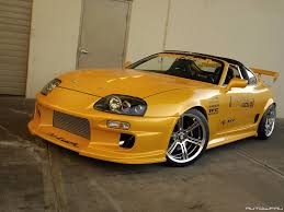 custom toyota supra twin turbo toyota supra with do luck kit wheels and top secret hood side