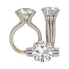 ring setting 18k yellow gold engagement ring setting