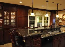 hickory wood sage green raised door breakfast bar kitchen island