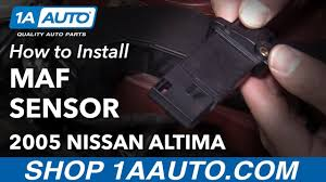 nissan altima 2005 idle relearn how to clear p0102 code replace mass air flow sensor 2004 12