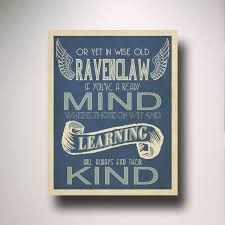 Harry Potter Bathroom Accessories Ravenclaw House Art Harry Potter Typography Wall Art