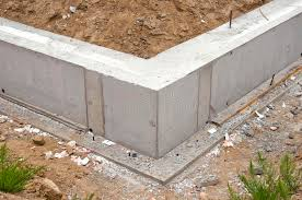new home foundation new home foundation base construction stock image image of soil