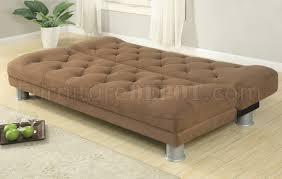 Plush Sofa Bed Plush Microfiber Modern Sofa Bed W Metal Legs