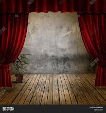 Stage With Curtains Small Stage Red Velvet Theater Image U0026 Photo Bigstock