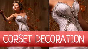 Evening Wedding Dresses How To Easy Decorate Wedding Or Evening Gown With Drapery Fan